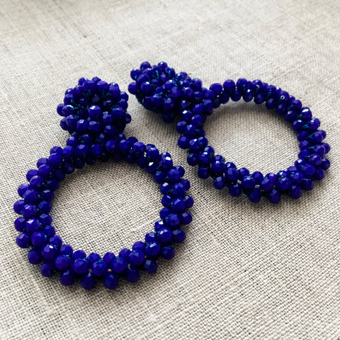Beaded Drop Hoops