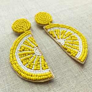 Summer Slice Earrings Lemon