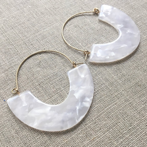 Summer Moon Disc Earrings