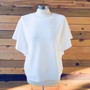Flutter Sleeve Top White