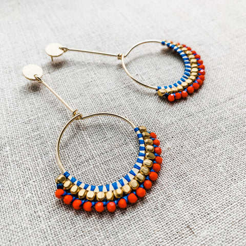 Nile Sunset Drop Earrings