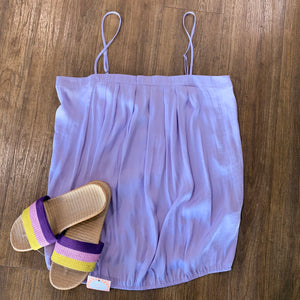 Pleated Summer Cami Lavender