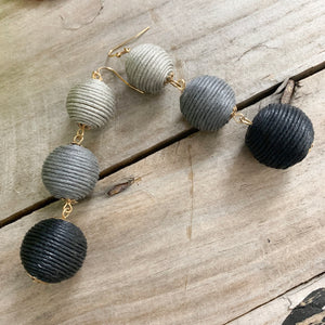 Ombré Ball Drop Earrings