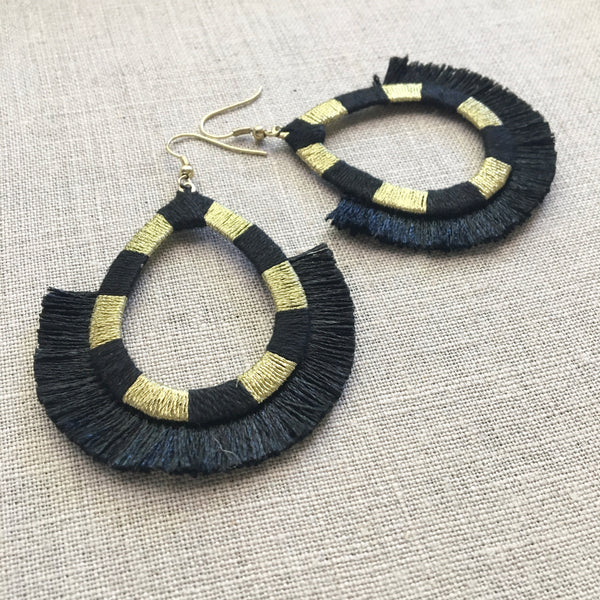 Deco Fan Drop Earrings