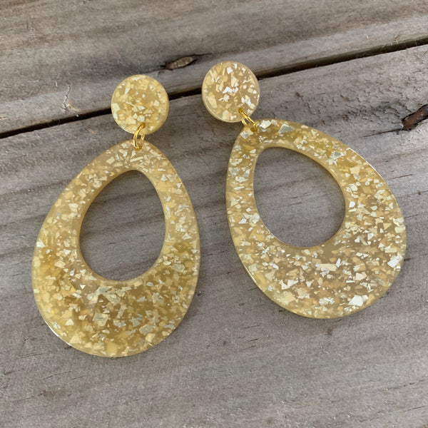 Confetti Drop Earrings Gold