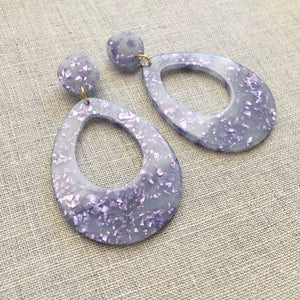 Confetti Drop Earrings Purple