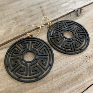 Greek Disc Earrings