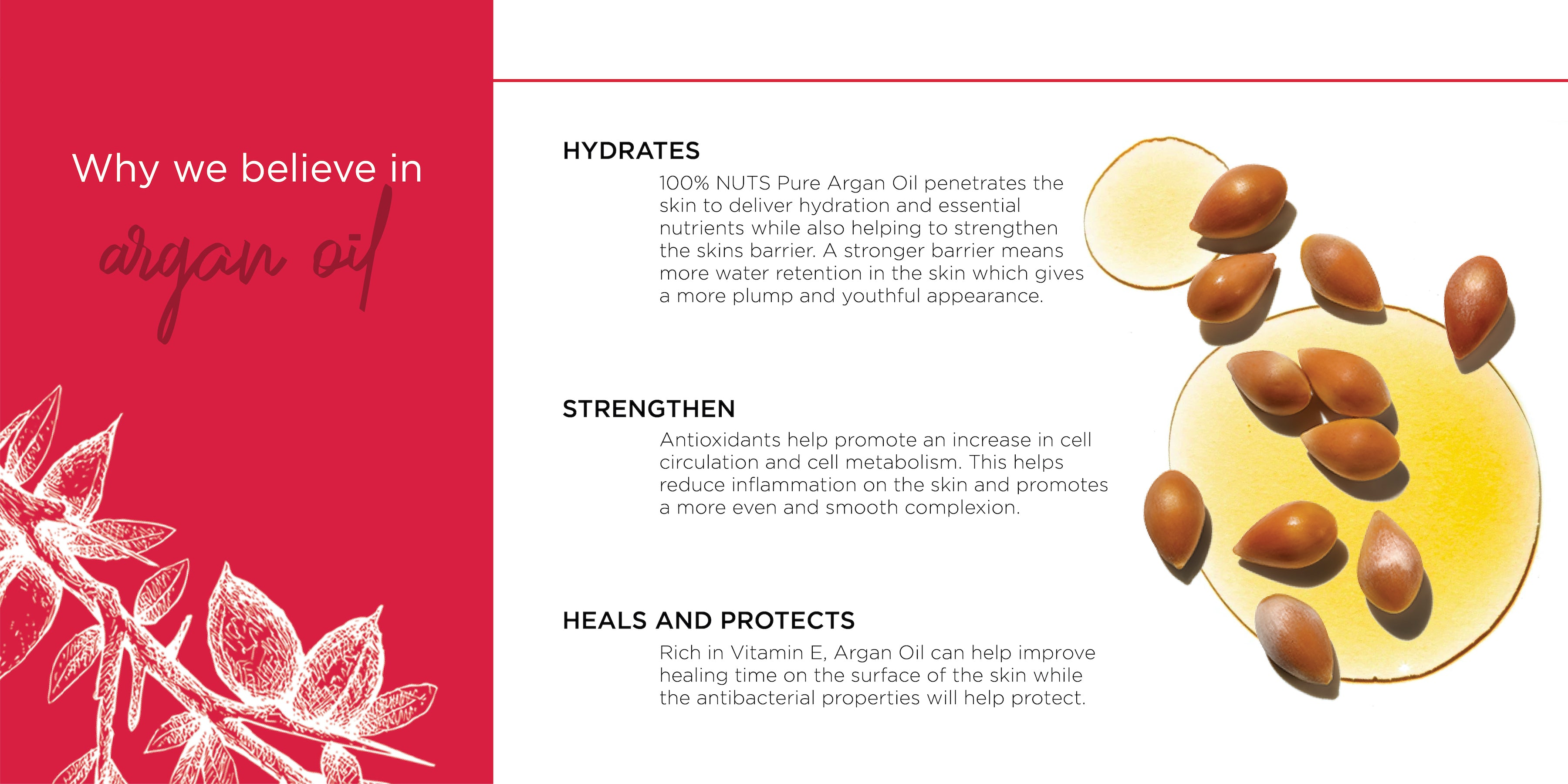 beauty nut pure argan oil | USDA certified organic | cold pressed