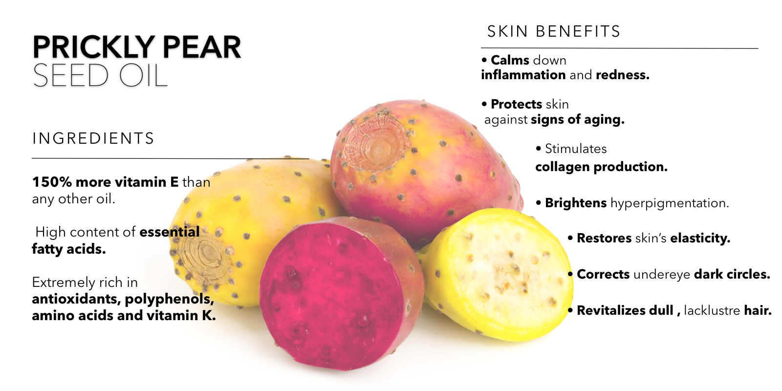 Beauty Nut Prickly Pear Seed Oil infographic