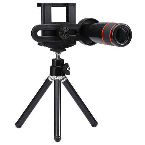 CellPhonez.in - Universal 12X Zoom Clip Lens with Tripod for All Mobile Phones