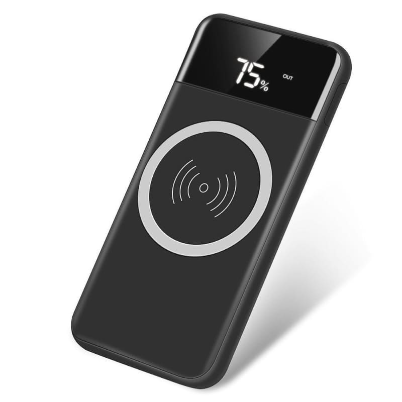 CellPhonez.in - 10000 mah Qi Wireless Charging Power Bank with LED Display.