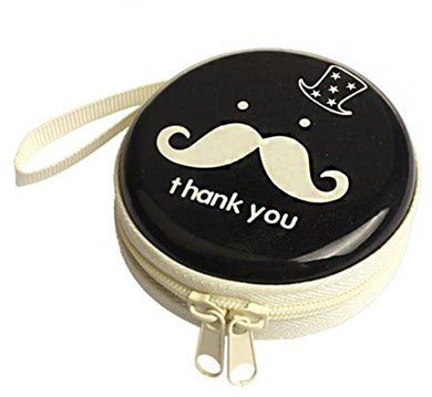 Mustache Earphone Pouch