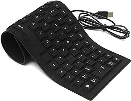 CellPhonez.in - Bluetooth Flexible Folding Silicone Waterproof Keyboard