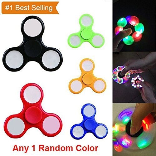 CellPhonez.in - Fidget Spinner with  LED lightning Glow in Dark(Color May Vary)