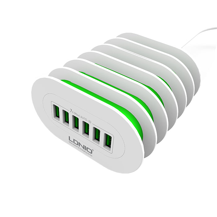CellPhonez.in - 6-Port 7A USB Wall Travel Charger Adapter (Without Cables)