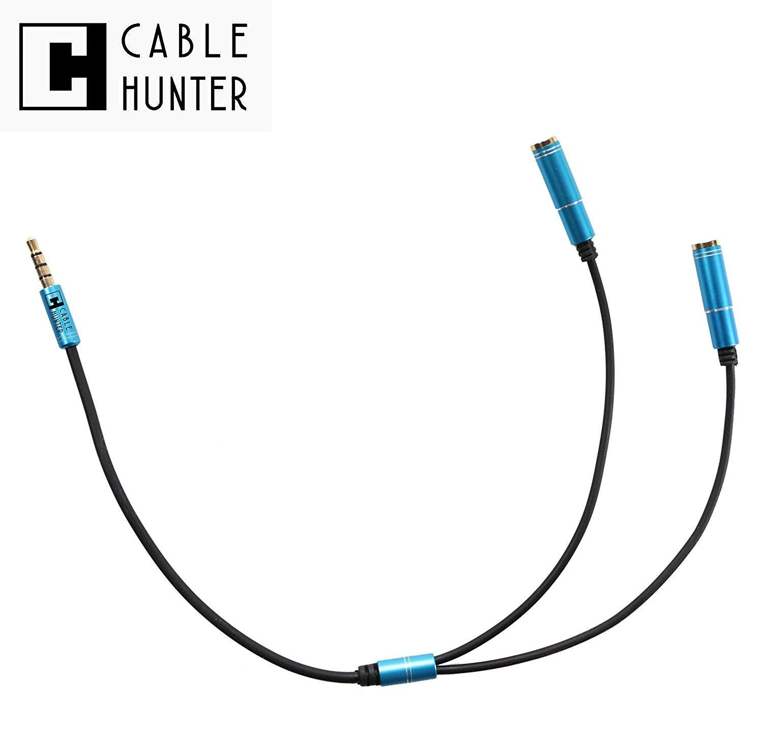 Headphone Splitter Audio Cable 3.5mm Male to 2 Female Jack