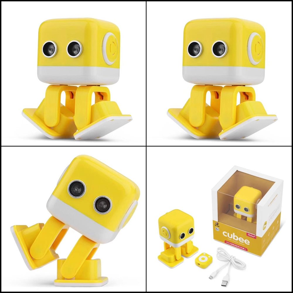 CellPhonez.in - Smart Music Robot Cubee, Bluetooth Dance Robot Musical Speaker(Assorted Color)