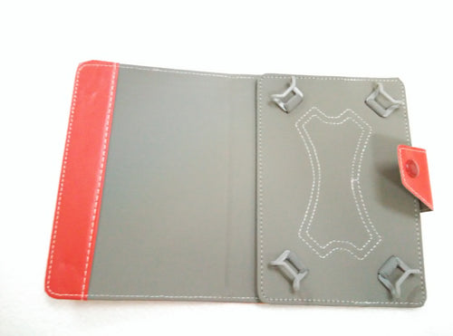 Leather Cover For Tablet up 7 inch Red