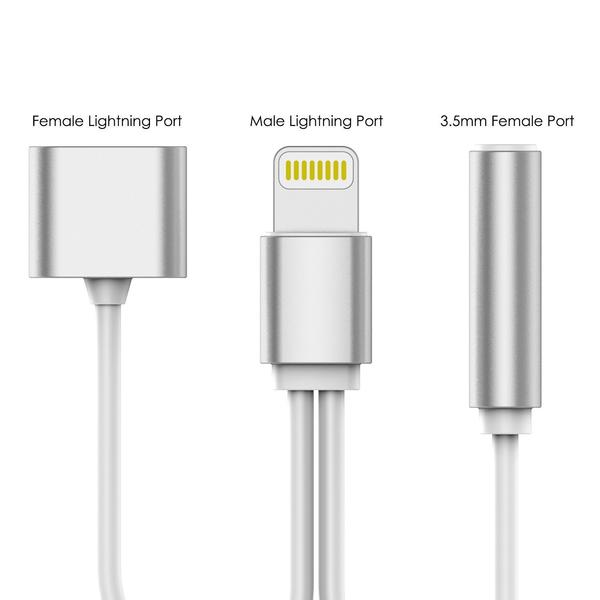 CellPhonez.in - 8 Pin Lightning to 3.5 mm Audio Adapter &  Fast Charging Splitter Cable