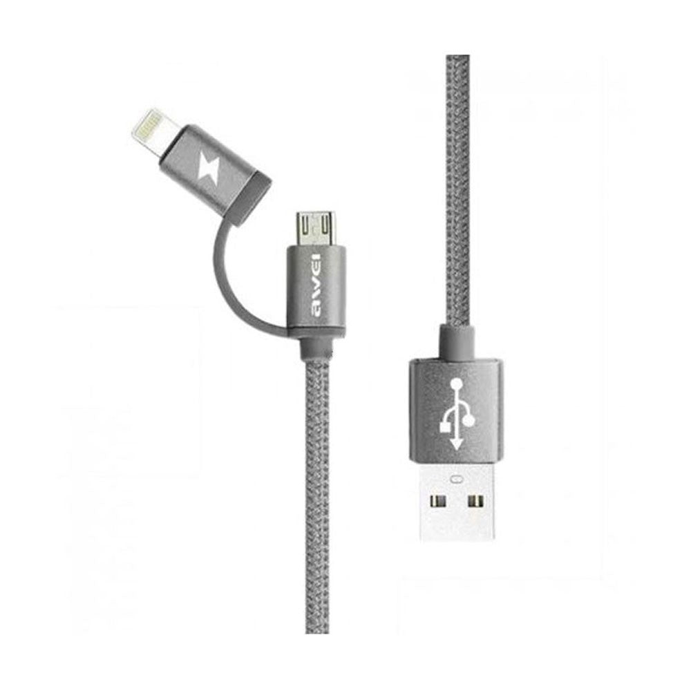 CellPhonez.in - 2in1  CL-930C Micro USB + Lightning Braided Data Cable