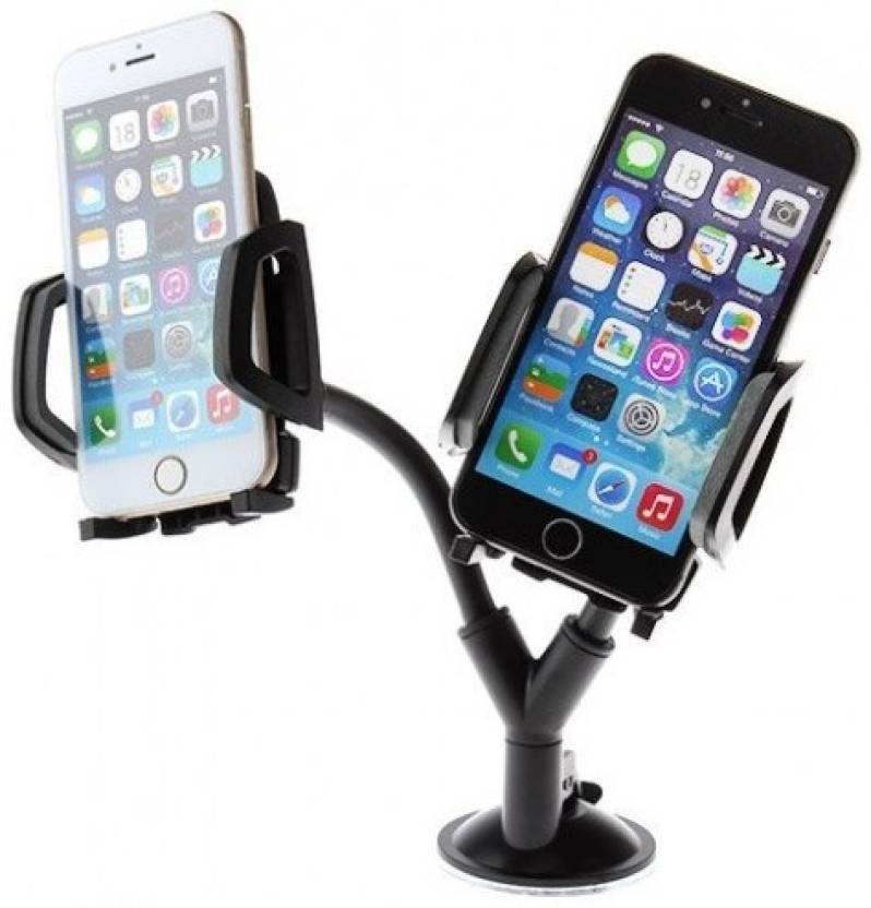 CellPhonez.in - Dual Car Mobile Holder for Dashboard, Windshield