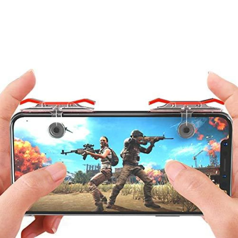 CellPhonez.in - Dual Gamepad Trigger Transparent and Red Color