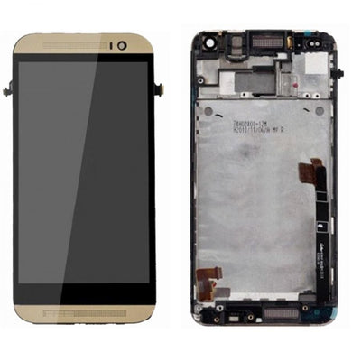CellPhonez.in - Lcd Digitizer Replacement For HTC  M8 with Frame (Gold)