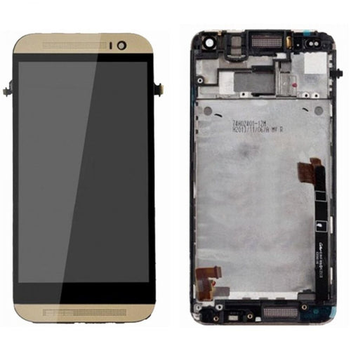 Lcd Digitizer Replacement For HTC  M8 with Frame (Gold)