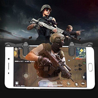 CellPhonez.in - Gaming Trigger L1R1 Shooter Controller PUBG Black for Smartphones.