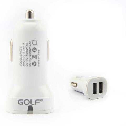 CellPhonez.in - GOLF 2.1A Dual USB Car Charger