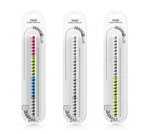 CellPhonez.in - 12 Pcs (3 Sets)Cable Protector Lightning Charger Cable Protector(Assorted Color )