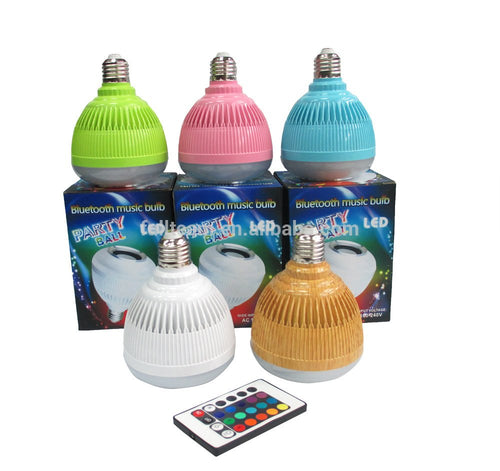 CellPhonez.in - Wireless bluetooth 12W Colorful LED Speaker Bulb