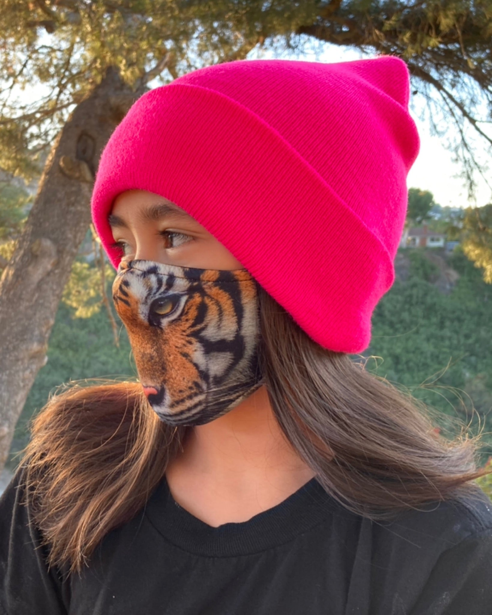 Adult and Kids Animal Cloth Face Mask - Tiger