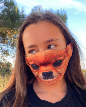 Adult and Kids Animal Cloth Face Mask - Pomeranian