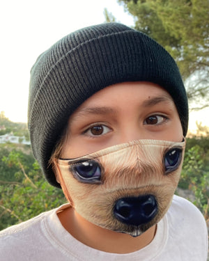 Adult and Kids Animal Cloth Face Mask - Spaniel