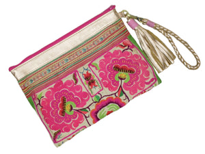 Sloan Everyday Clutch - Vintage with Gold Leather