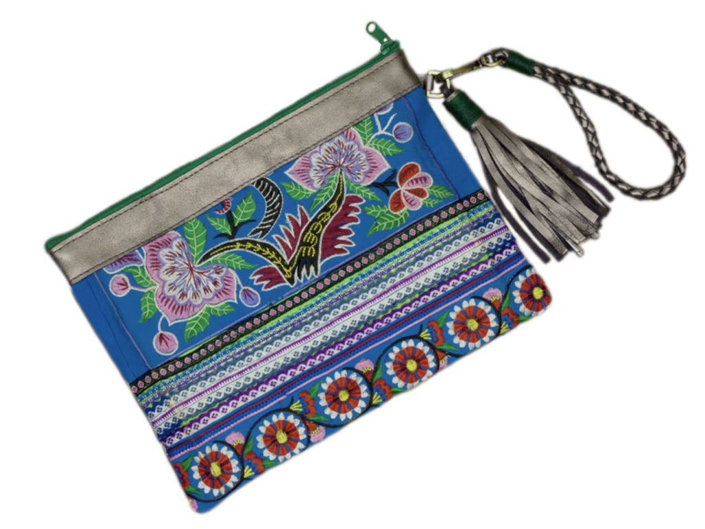 Sloan Everyday Clutch -  Vintage with Pewter leather