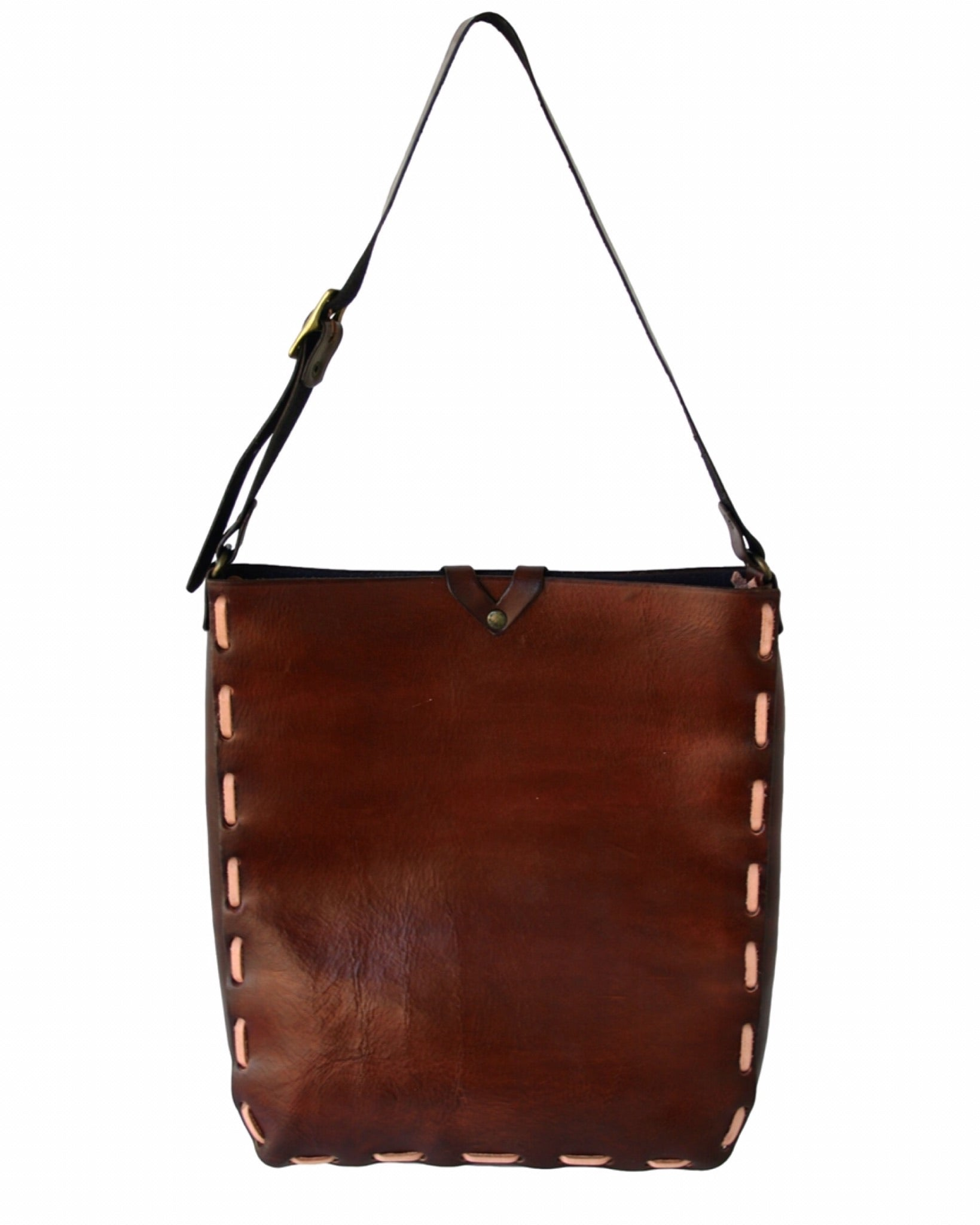 Diva Leather Tote - Shoulder Strap