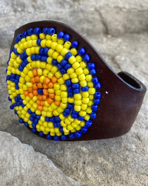 Southwest Style Seed Bead Bendable Cuff