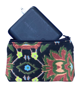 Neon Flower Change Purse