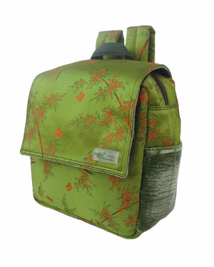 Buzz Silk Backpack - Bamboo Print