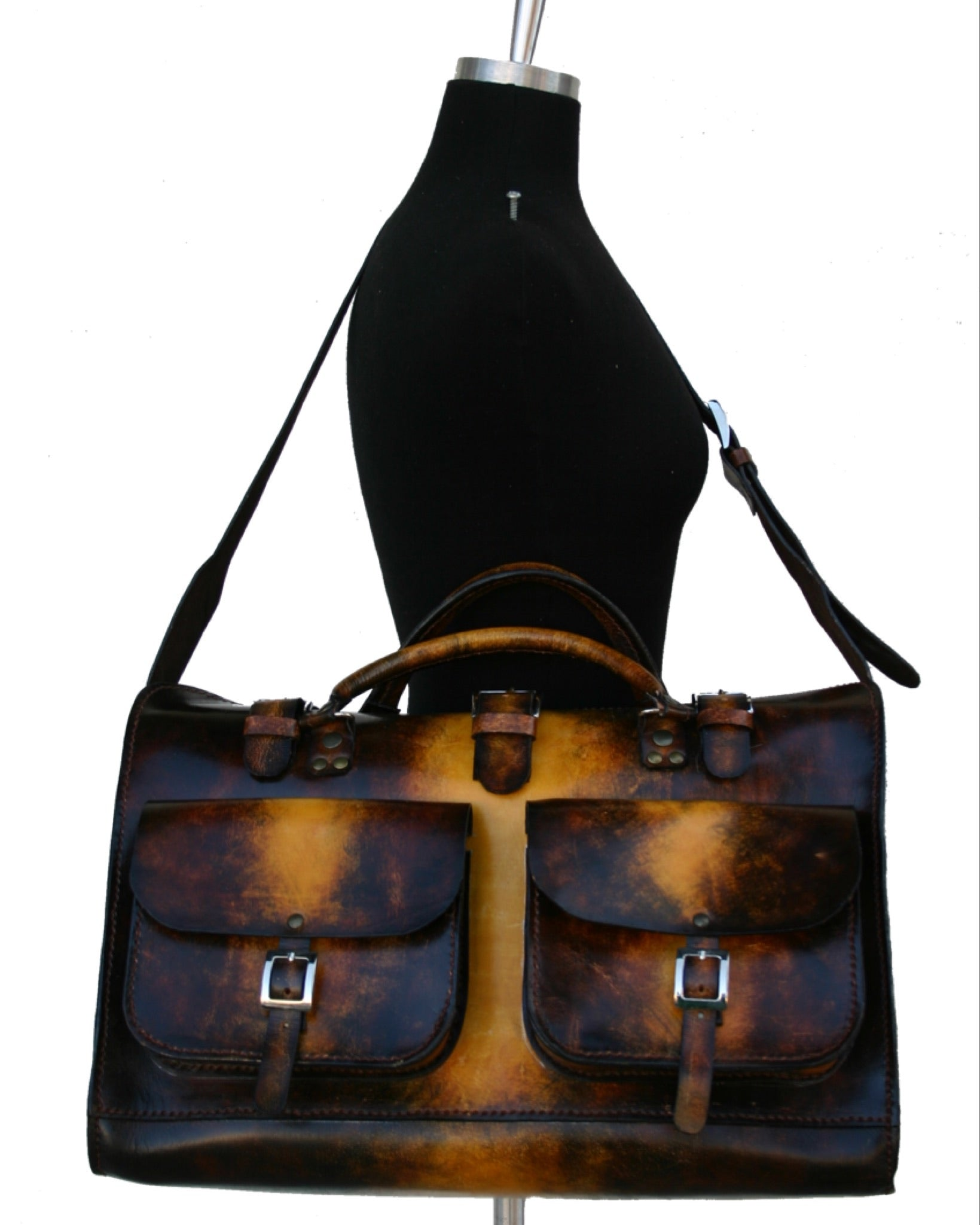 Large Handcrafted Leather Traveler