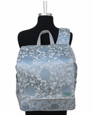 Buzz Large Gym Silk Sling Bag - Medallion Print