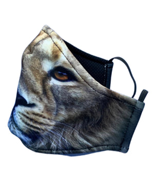 Adult and Kids Animal Cloth Face Mask - Lion