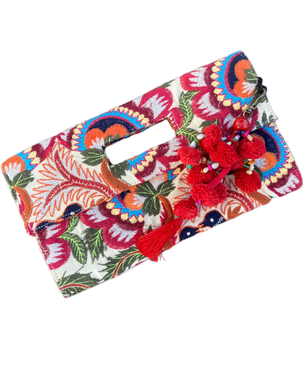 Bailee Embroidery Clutch