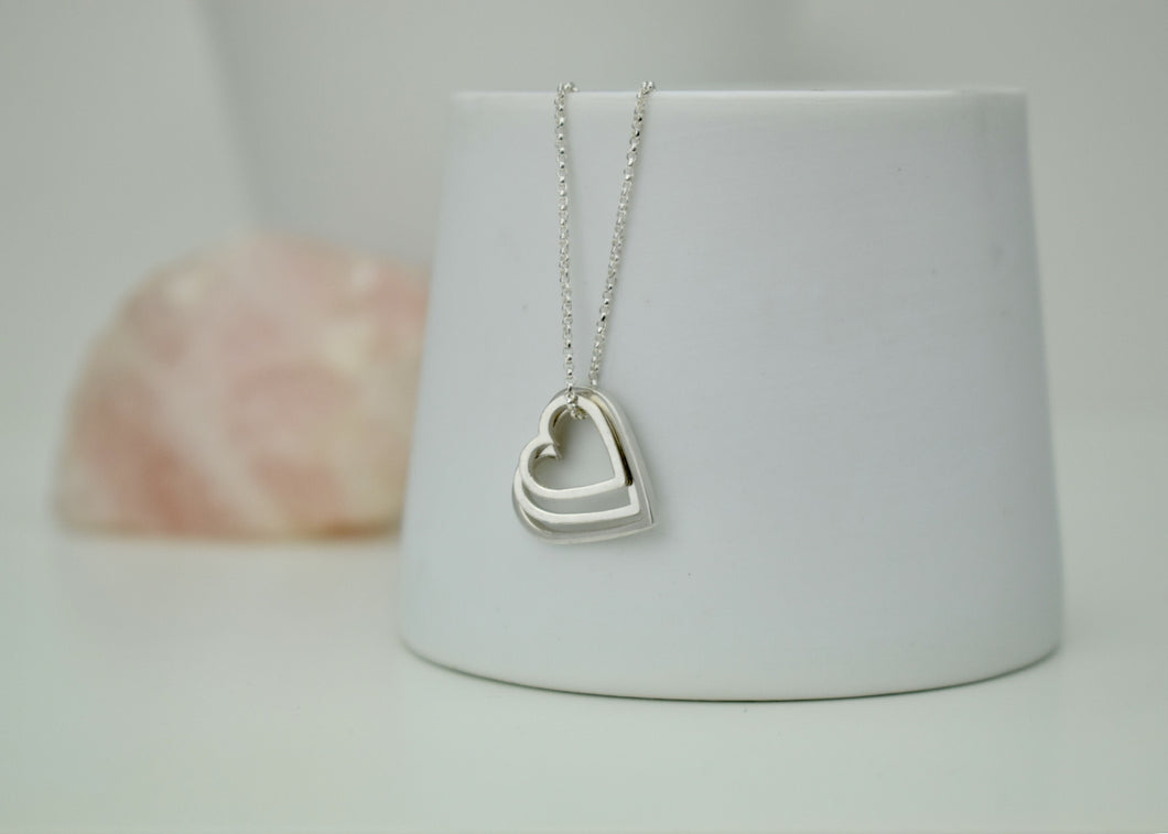 Heart Fragments Triple Pendant