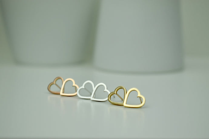 Heart Fragments Studs