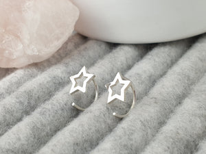 Peerie Star mini hoops