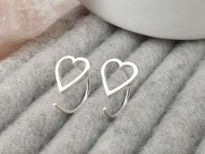 Little Heart mini hoops