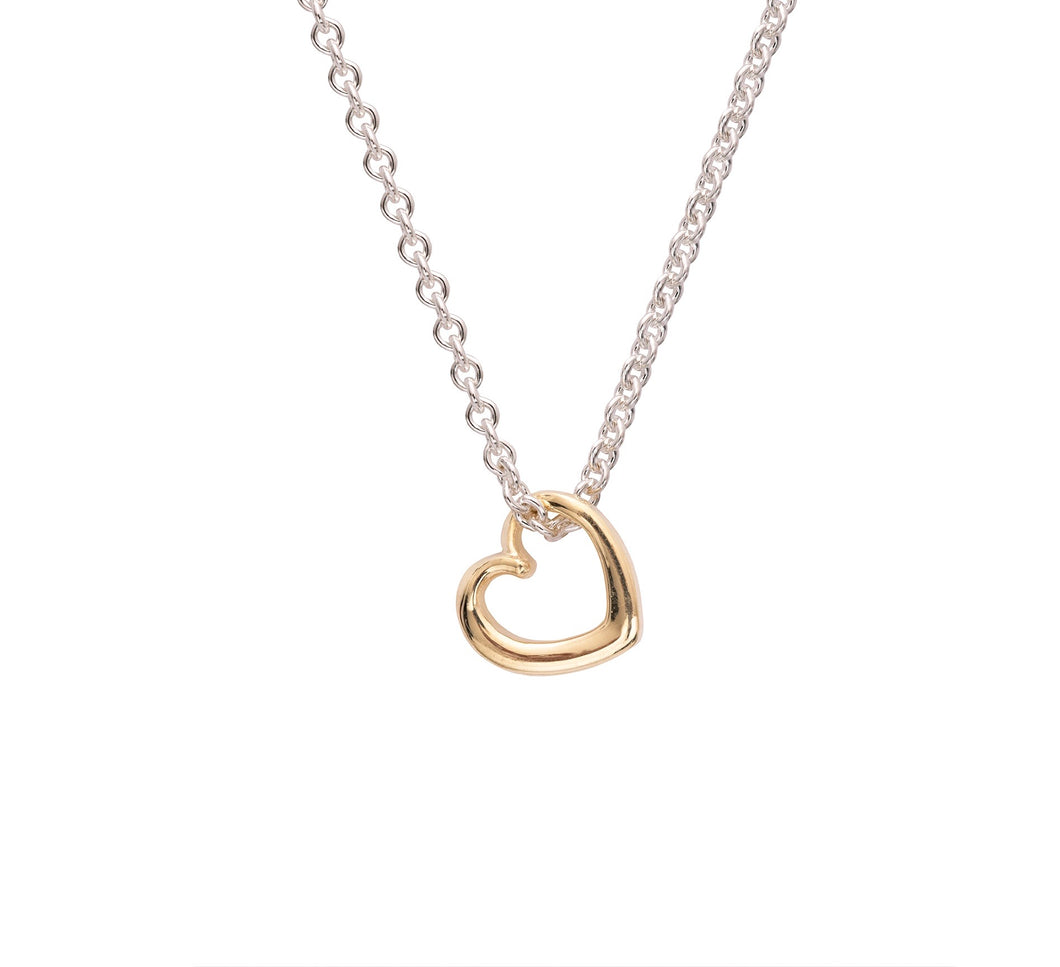 Andra Mini Heart Necklace Yellow Gold